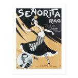 Cubierta del cancionero del vintage del trapo de S Tarjetas Postales