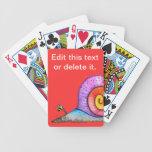 Cubierta del caracol del escándalo de tarjetas barajas de cartas