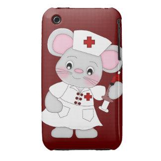 Cubierta del caso de la enfermera del ratón iPhone 3 cobertura