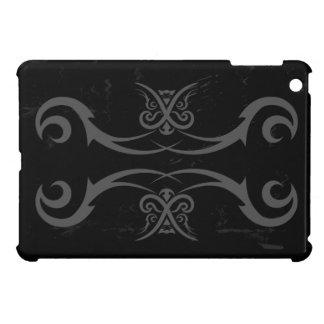 Cubierta del caso del iPad negro y gris del tatuaj iPad Mini Fundas