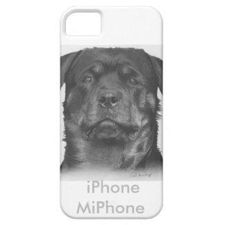 Cubierta del caso del iphone de Rottweiler, dibujo Funda Para iPhone SE/5/5s