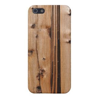 Cubierta del caso del iPhone del fondo de madera d iPhone 5 Carcasa