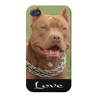 cubierta del caso del perro de perrito de Pitbull  iPhone 4/4S Carcasas