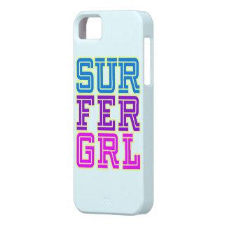 Cubierta del chica de la persona que practica surf iPhone 5 carcasas