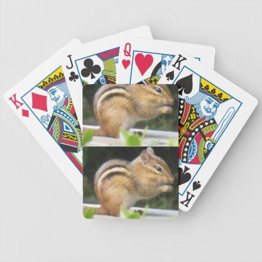 Cubierta del Chipmunk de tarjetas Barajas De Cartas
