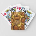 Cubierta del chocolate de tarjetas barajas de cartas