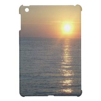 Cubierta del cojín de la puesta del sol i del océa