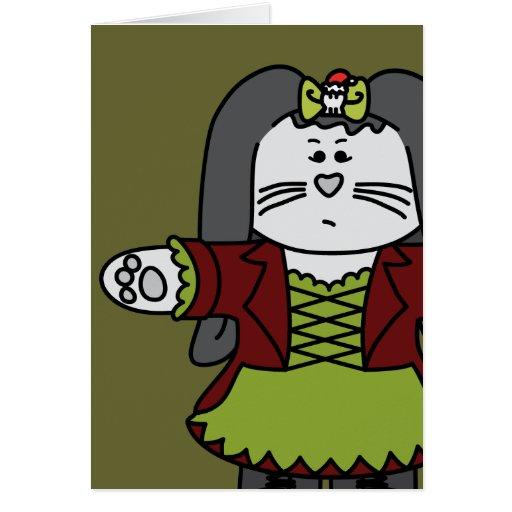 Cubierta del conejito de Isabel la tarjeta del día
