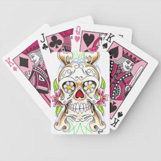 Cubierta del cráneo del azúcar de tarjetas baraja