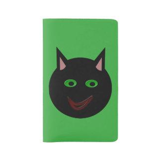 Cubierta del cuaderno del gato negro de Halloween Funda Para Libreta Y Libreta Grande Moleskine