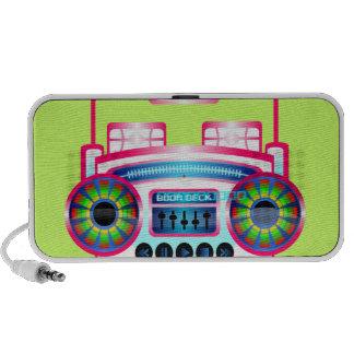 Cubierta del equipo estéreo portátil iPod altavoz
