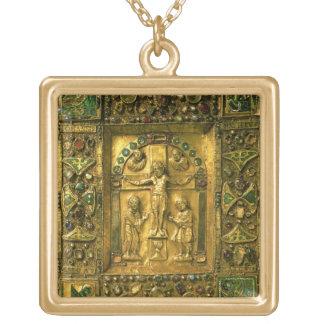 Cubierta del evangelio, Ottonian, Alemania, siglo  Colgante Cuadrado