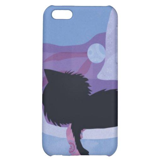 Cubierta del gato negro iphone4