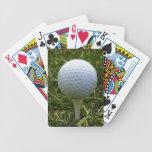 Cubierta del golf de tarjetas barajas