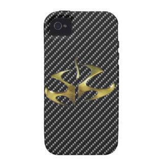 cubierta del Hitman del carbono del iPhone 4 Vibe iPhone 4 Fundas