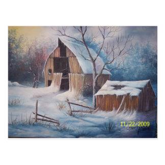 Cubierta del invierno postal