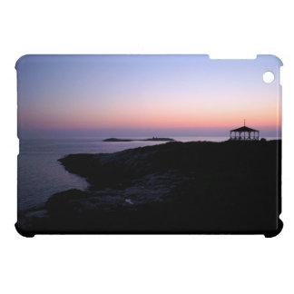 Cubierta del ipad de la puesta del sol de la isla