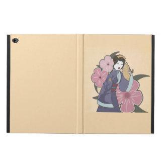 Cubierta del iPad del arte del tatuaje del geisha