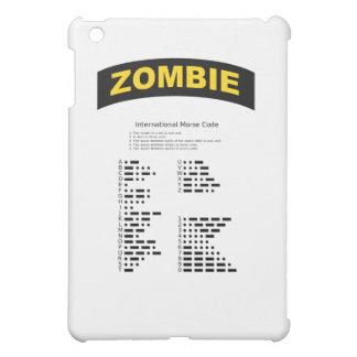 Cubierta del iPad del código Morse de la etiqueta