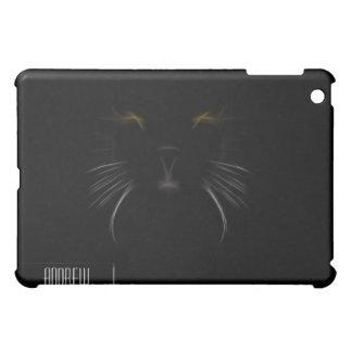 Cubierta del iPad del fractal del gato negro