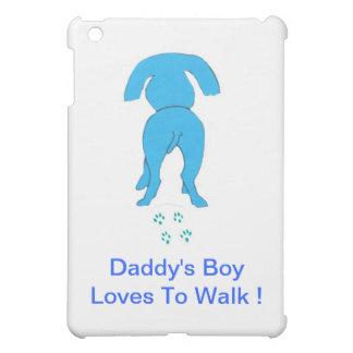 Cubierta del iPad del perro del muchacho del papá