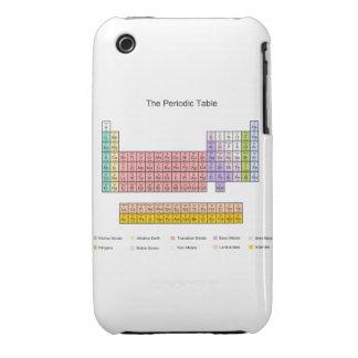 Cubierta del iphone 3 de la tabla periódica iPhone 3 fundas