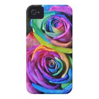Cubierta del iPhone 4 de los rosas del arco iris Case-Mate iPhone 4 Protector