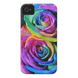 Cubierta del iPhone 4 de los rosas del arco iris Case-Mate iPhone 4 Cobertura