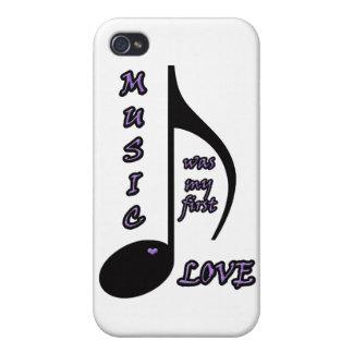 Cubierta del iphone 4 del amor de la música iPhone 4/4S carcasas