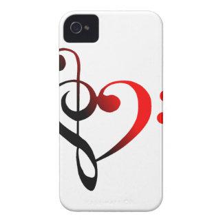 Cubierta del iPhone 4 del corazón de la hendidura iPhone 4 Case-Mate Carcasas