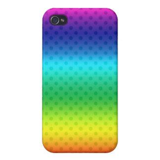 Cubierta del iPhone 4 del diseño del arco iris iPhone 4 Funda