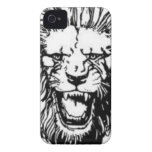 Cubierta del iPhone 4 del león iPhone 4 Coberturas
