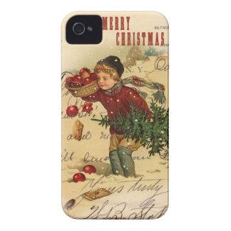 Cubierta del iphone 4 del navidad del vintage Case-Mate iPhone 4 protector