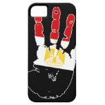 Cubierta del iPhone 5 de Egipto Handprint iPhone 5 Case-Mate Protectores