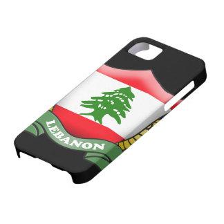 Cubierta del iPhone 5 de la bandera de Líbano iPhone 5 Cobertura