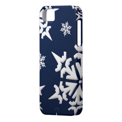 Cubierta del iPhone 5 de los copos de nieve iPhone 5 Case-Mate Fundas