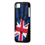 Cubierta del iPhone 5 de Reino Unido Handprint iPhone 5 Case-Mate Fundas