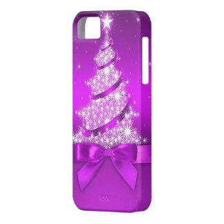Cubierta del iPhone 5 del árbol de navidad iPhone 5 Fundas
