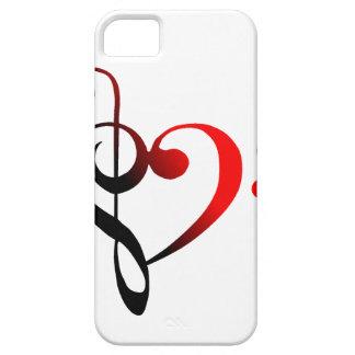 Cubierta del iPhone 5 del corazón de la hendidura iPhone 5 Fundas