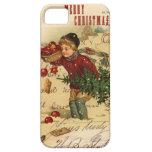 Cubierta del iphone 5 del navidad del vintage iPhone 5 cárcasas