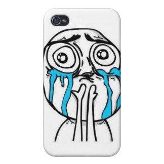 cubierta del iphone de la cara 9GAG iPhone 4/4S Fundas