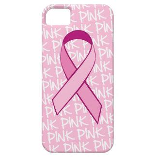 Cubierta del iPhone de la conciencia del cáncer de iPhone 5 Fundas