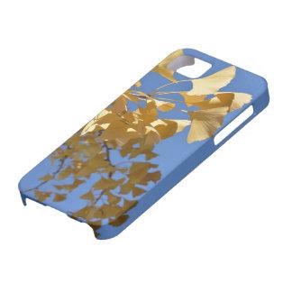 cubierta del iphone de la hoja del gingko iPhone 5 Case-Mate cobertura