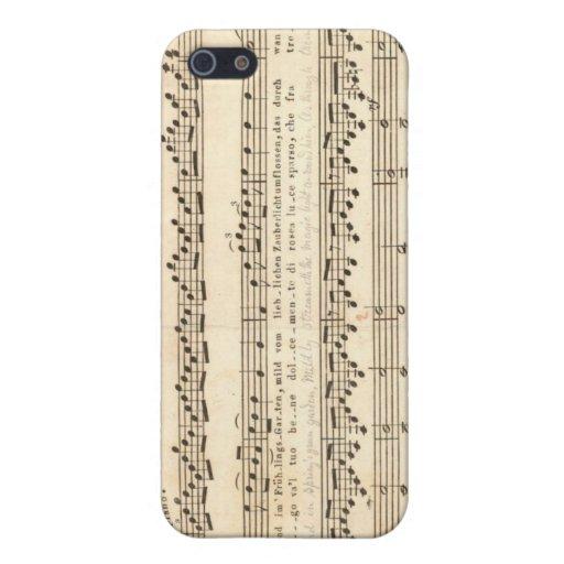Cubierta del iPhone de la partitura de Beethoven iPhone 5 Funda