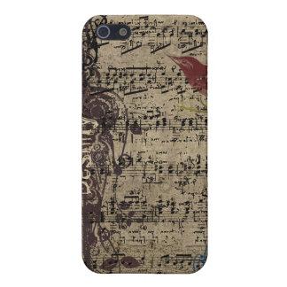 Cubierta del iPhone de la partitura del pájaro del iPhone 5 Cárcasa