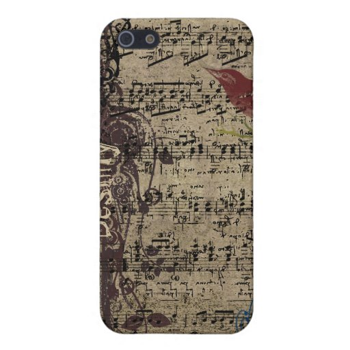 Cubierta del iPhone de la partitura del pájaro del iPhone 5 Fundas