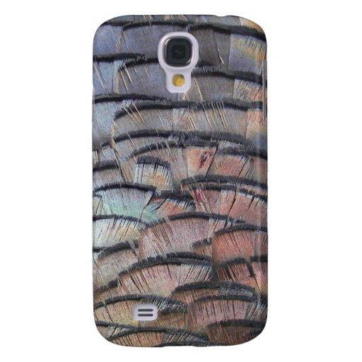 cubierta del iphone de la pluma del pavo