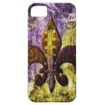 Cubierta del iPhone de la púrpura y del oro iPhone 5 Funda