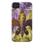 Cubierta del iPhone de la púrpura y del oro iPhone 4 Case-Mate Protector