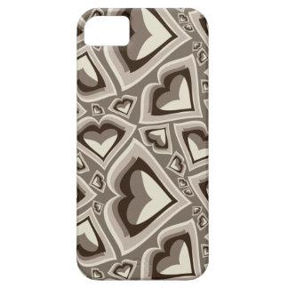 Cubierta del iphone de los corazones iPhone 5 funda